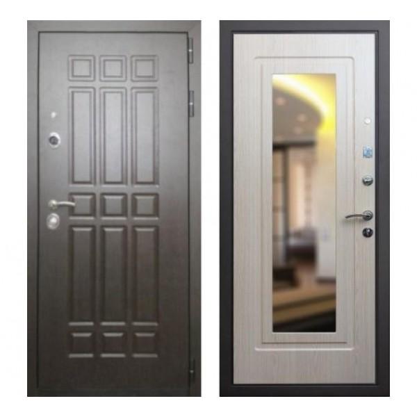 """входная дверь Rex 8 с зеркалом, Цвет """"Беленый дуб"""""""