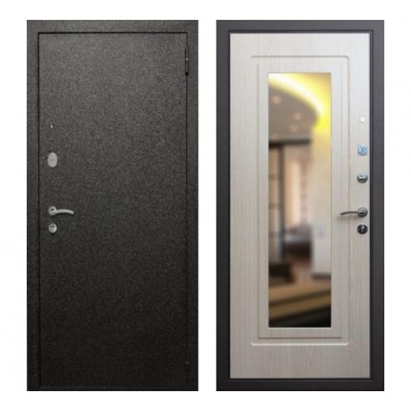"""входная дверь с зеркалом Rex Верона  """"Беленый дуб"""""""