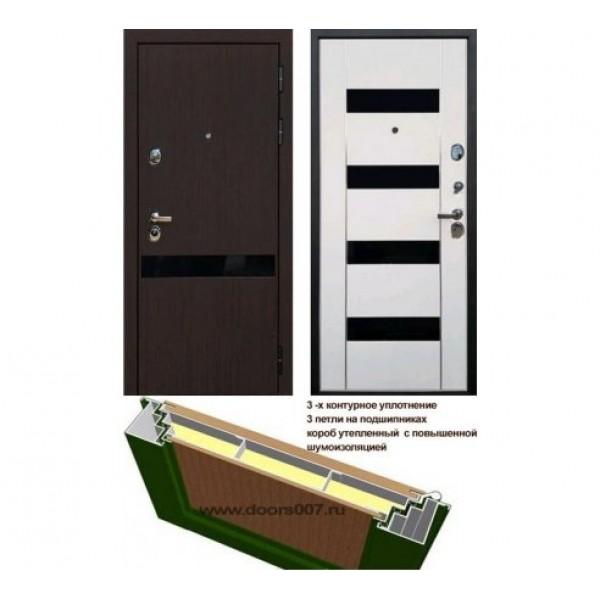 входная дверь Rex Премьер Z2 Стекло черный триплекс Премиум класс