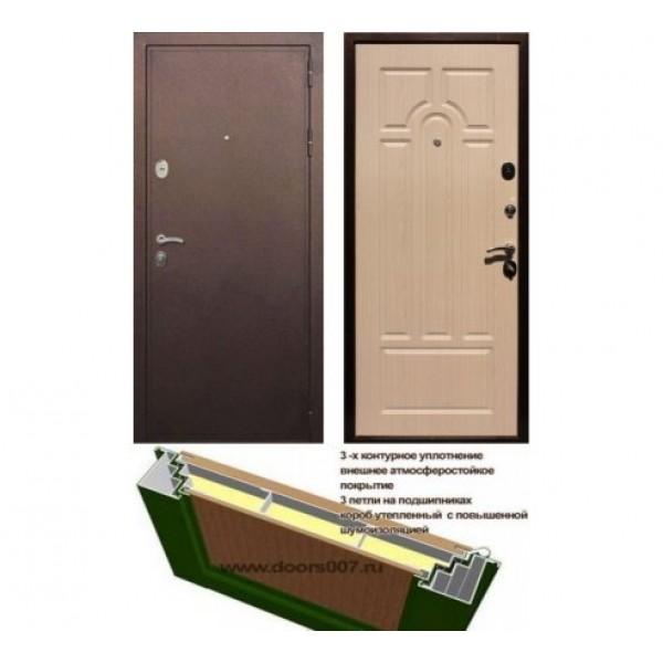 """входная  дверь Rex 5А, Цвет """"Беленый дуб"""""""