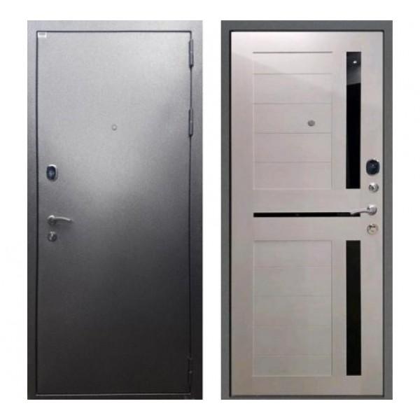 """входная дверь Rex Титан СБ-18 """"Серебро антик / Лиственница бежевая"""""""