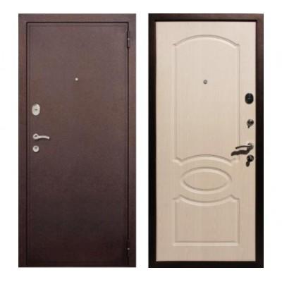 """дверь Rex 2 Хром, Цвет """"Беленый дуб"""""""