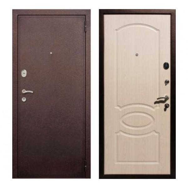 """входная дверь Rex 2 Хром, Цвет """"Беленый дуб"""""""