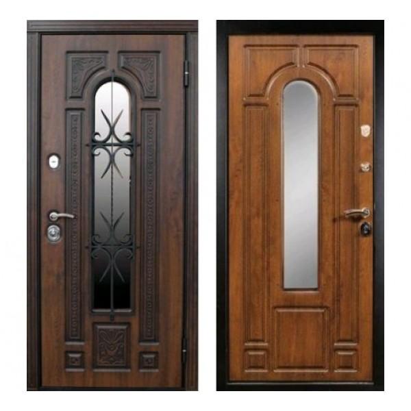 """уличная дверь Сударь Рим с ковкой """"Голден ОАК"""" Премиум класс"""