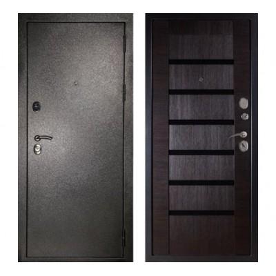 """дверь Сударь МД-05 """"Серебро / Орех темный"""""""