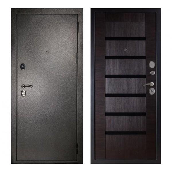 """входная  дверь Сударь МД-05 """"Серебро / Орех темный"""""""