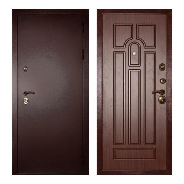 """входная  дверь Сударь МД-09 """"Орех тисненый"""""""
