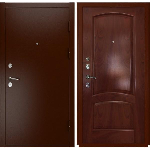 входная дверь Люксор-3А красное дерево