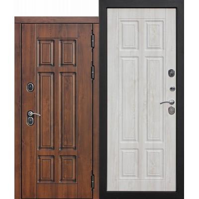 Уличная дверь Изотерма Терморазрыв Цитадель Грецкий орех \ Сосна белая