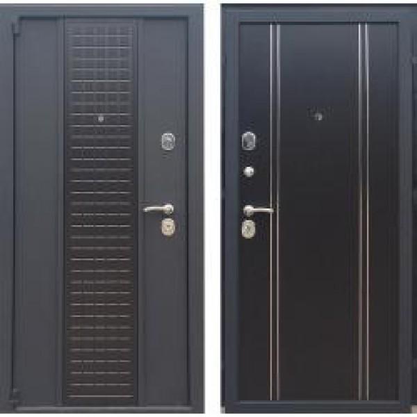 Трёхконтурная дверь Модерн 2М Венге