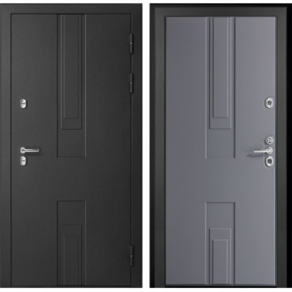 Уличная дверь с терморазрывом ДК Тоскана 3К (Силк Титан / Белый)