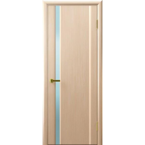 дверь шпон СИНАЙ-1 (Беленый дуб,стекло белое)