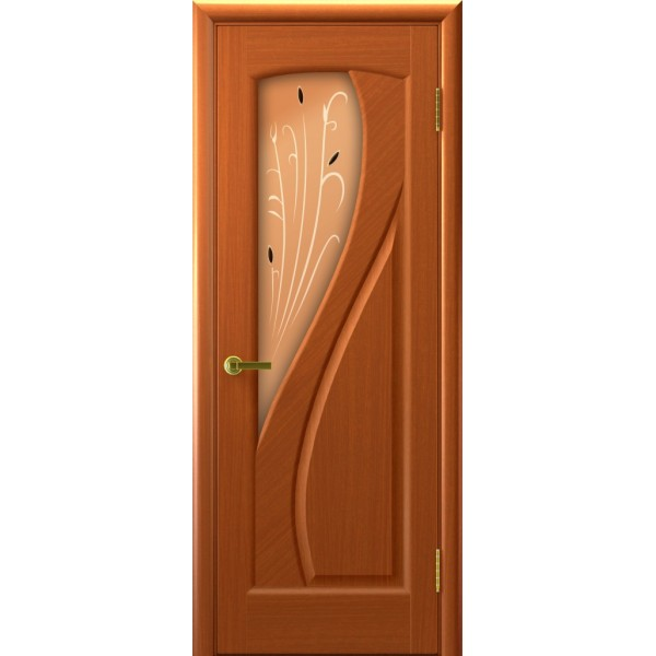 дверь шпон МАРИЯ(Темный Анегри Т74, стекло)