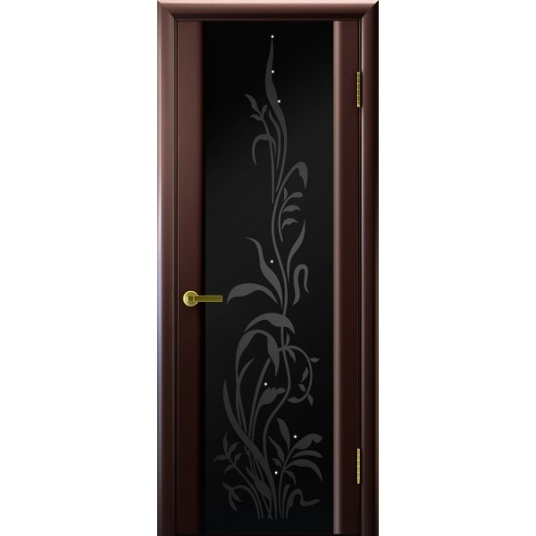 двери шпонТрава-2(венге, стекло)