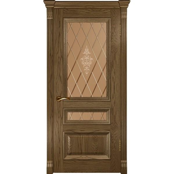 двери шпон Фараон-2 (ДО Светлый мореный дуб) Luxor