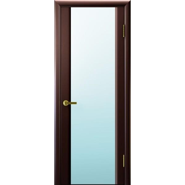 дверь шпон Синай-3 (венге, стекло белое)