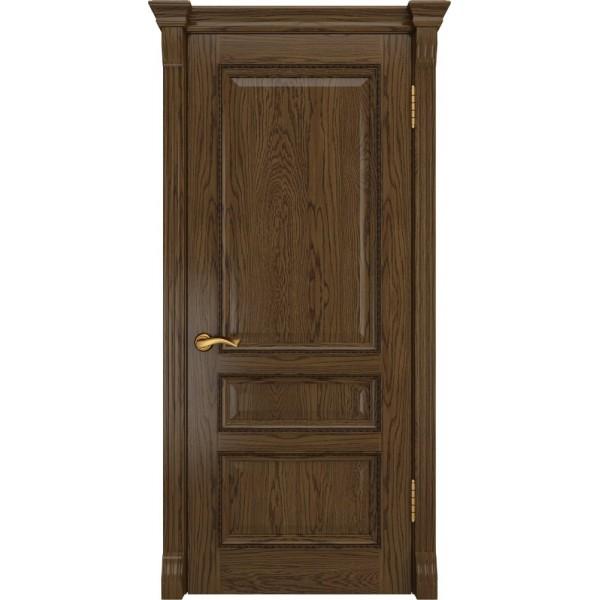 двери шпон ФЕМИДА-2(Светлый мореный дуб, глухая) Luxor