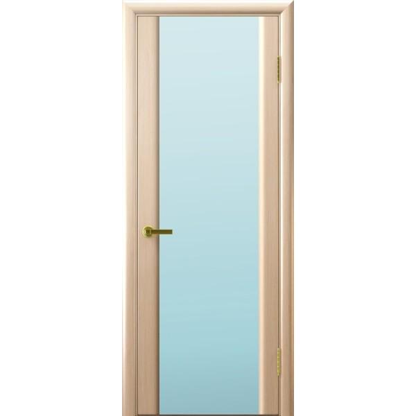 дверь шпон Синай-3 (белый дуб, стекло белое)