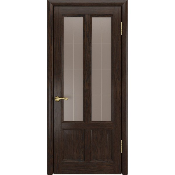 двери шпон ТИТАН-3(Мореный дуб,до) Люксор
