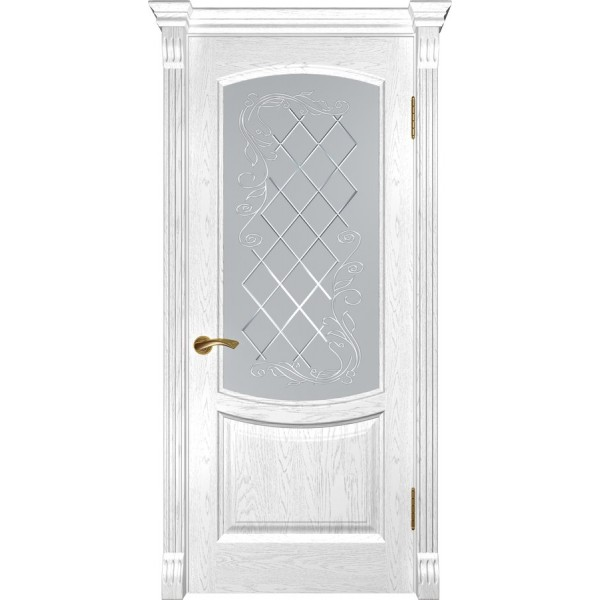 двери эмаль Лаура-2(дуб белая эмаль ДО)