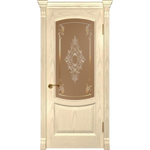 дверь эмаль Лаура-2 (слоновая кость ДО)