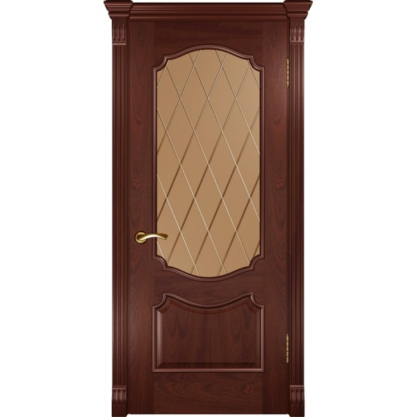 двери шпон Венеция (ДО красное дерево)