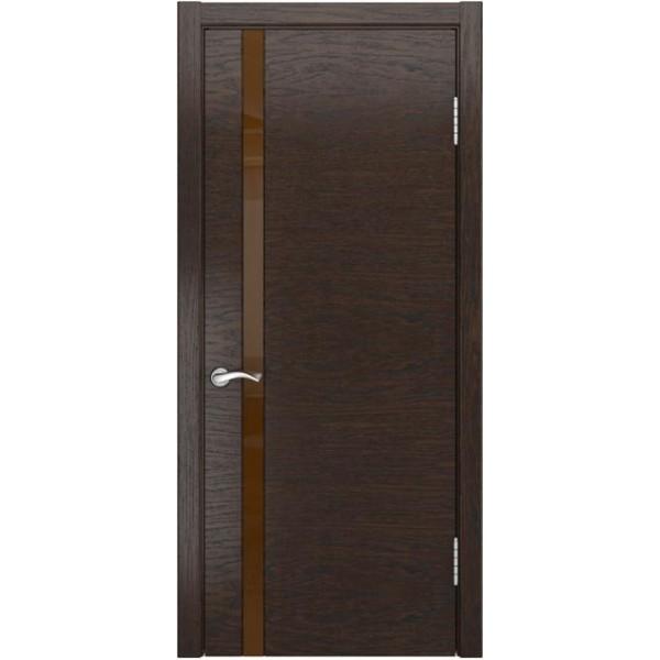 двери шпон АРТ-3(лакобель Мореный дуб)