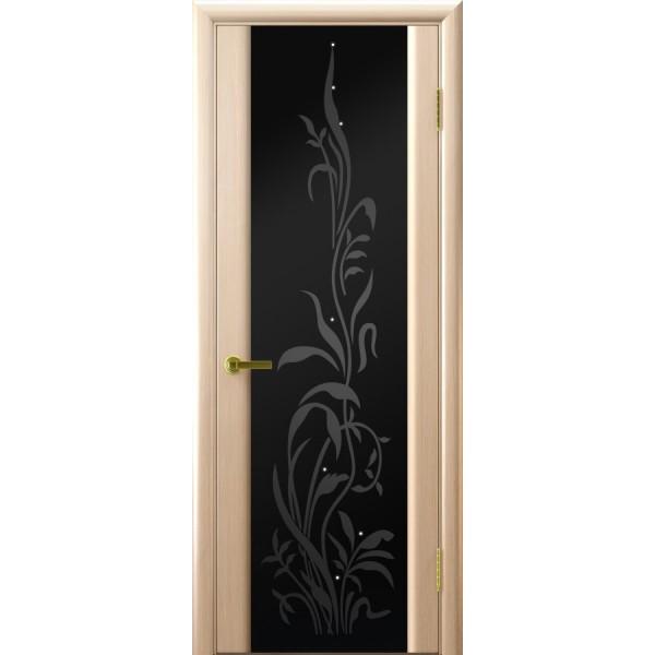 двери шпон Трава-2 (Беленый дуб, стекло) Ульяновск