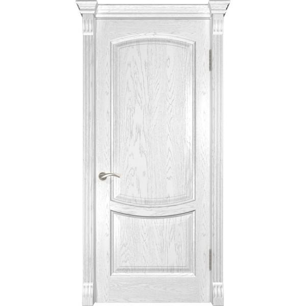 дверь эмаль Лаура-2 (дуб белая эмаль ДГ)