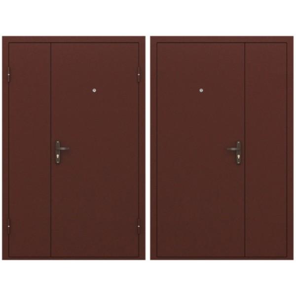 Двустворчатая готовая дверь 1250х2050