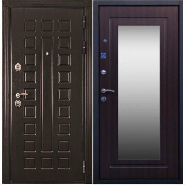 Трёхконтурная дверь П7М №2 с зеркалом и звукоизоляцией