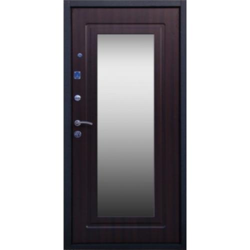 входная дверь с зеркалом и усиленной шумоизоляцией