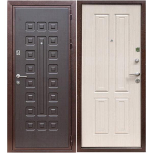 Входная готовая дверь Персона-4 №1 с двумя панелями МДФ