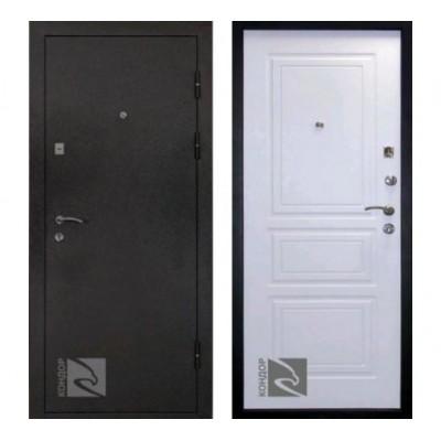 """дверь Кондор 8 """"Черный шелк / Белый матовый"""""""