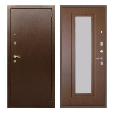 """дверь Rex 1А с зеркалом, Цвет """"Орех тисненый"""""""