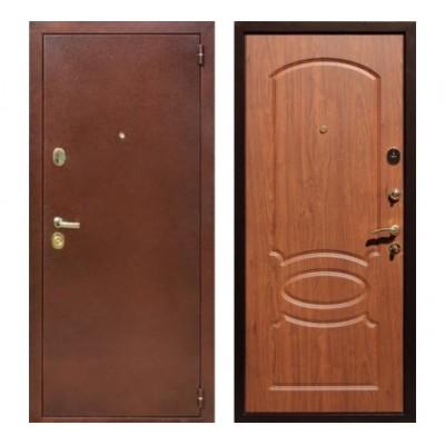 """дверь Rex 2 Латунь, Цвет """"Береза мореная"""""""