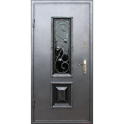 Уличная  дверь Persona с окном ковкой №120