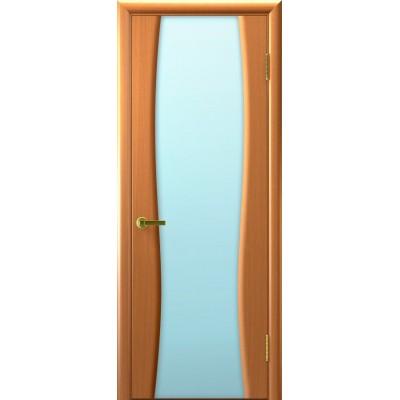МЕЖКОМНАТНАЯ ДВЕРЬ LUXOR (ЛЮКСОР) Клеопатра-2 (светлый анегри 34 тон стекло белое)