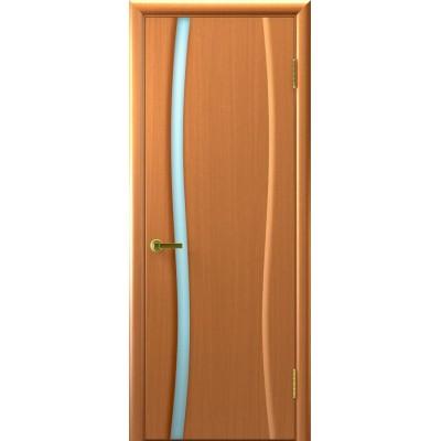 МЕЖКОМНАТНАЯ ДВЕРЬ LUXOR (ЛЮКСОР) Клеопатра-1 (светлый анегри 34 тон стекло белое)