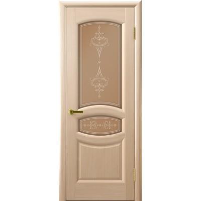 межкомнатные двери шпон АНАСТАСИЯ(белый дуб, стекло)