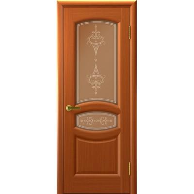 межкомнатная дверь АНАСТАСИЯ (Темный Анегри Т74, стекло)