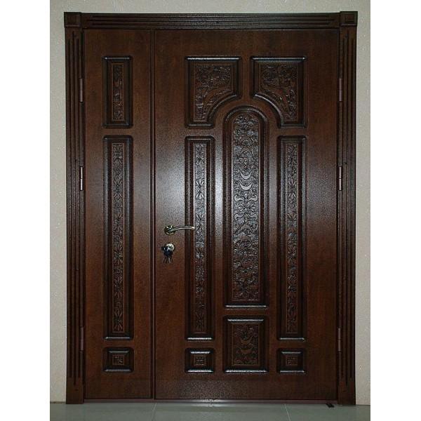 Двустворчатая уличная дверь Персона Рафаэль 1300Х2050
